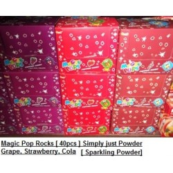 Magic Pop Rocks [Grape / Cola / Strawberry] 40packs Sparkling Powder