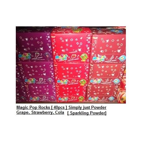 Magic Pop Rocks [Grape / Cola / Strawberry] 40packs Sparkling Powder