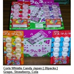 Coris Whistle Candy Japan [Grape / Strawberry] 20packs