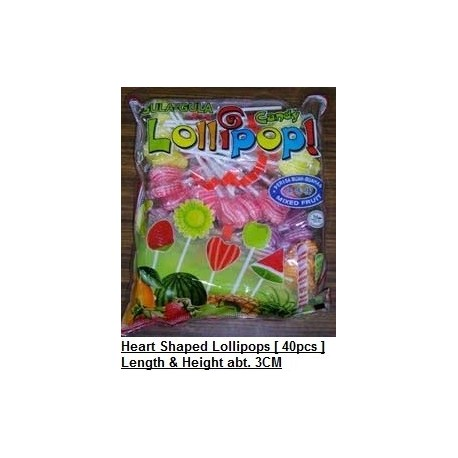 Heart Shaped Lollipop 40pieces