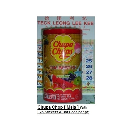 Chupa Chops [Msia] With Expiry Date & Bar Code per pc 100pcs