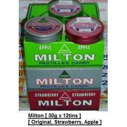 Milton Pastilles [Original / Strawberry / Apple] 30g x 12tins
