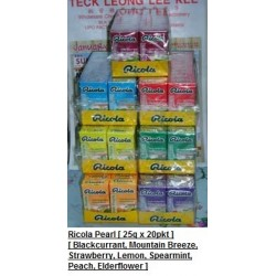 Ricola Pearls [Blackcurrant / Mixed Berries / Strawberry & More] 25g x 20pkts [ Promotion ]