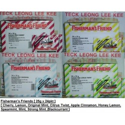 Fisherman's Friend [Cherry / Lemon / Original Mint & More] 25g x 24pkts