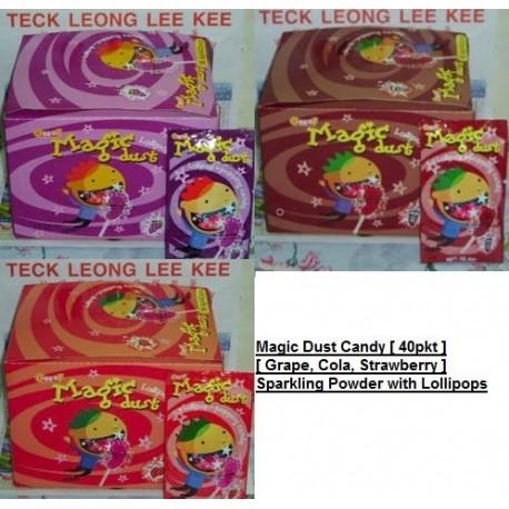 Geeef Magic Dust [ Grape / Strawberry / Cola ] 40pks Sparkling Powder with Lollipops