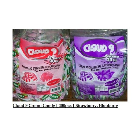 Cloud 9 Creme Candy [Blueberry / Strawberry] 300pcs