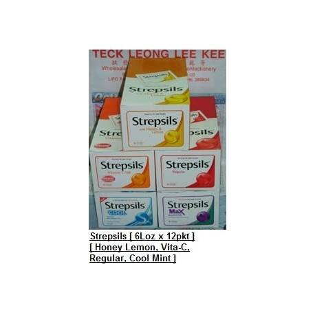 Strepsils [Honey Lemon / Regular / Vitamin C-100 / Extra Strong Mint] 6loz x 24packs