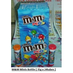 M&M Minis Bottle 35g x 24pkts