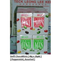 Delfi Choco-Minis [Peppermint / Assorted] 40g x 20pkts