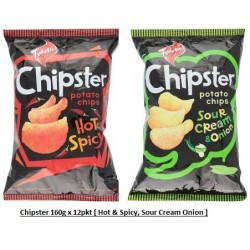 Chipsters [Hot & Spicy / Sour Cream Onion] 160g x 12pkts