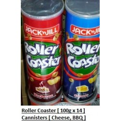 Jack & Jill Roller Coaster [Barbeque / Cheese] 100g x 14canisters