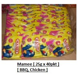 Mamee Monster Noodles BBQ, Chicken 25g x 40pkts