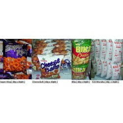 [Super Ring / Cheese Balls / Bika [Chicken] / Fish Muruku] 60g x 10pkts