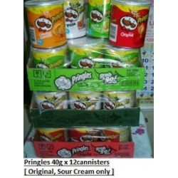 Pringles [Original / Sour Cream] USA 40g x 12pkts
