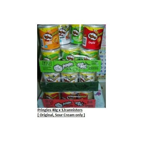 Pringles [Original / Sour Cream] USA 40g x 12pkts