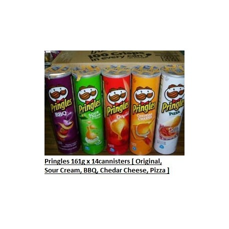 Pringles [Original / Sour Cream / Chedar Cheese / Pizza / BBQ] 181g x 14cannister
