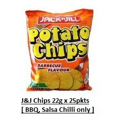 Jack & Jill Potato Chips [Salsa Chilli / BBQ Flavour] 22g x 25packs