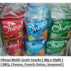 Oheya Multi-Grain Snacks [Cheese / BBQ / French Onion ] 40g x 10pkts