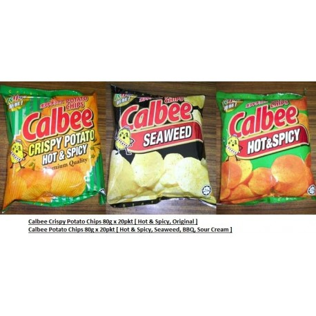 Calbee Crispy Potato [Hot & Spicy / Original] 75g x 20pkts