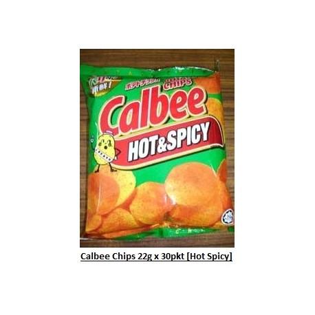 Calbee Potato Chips [Hot & Spicy] 22g x 30pkts
