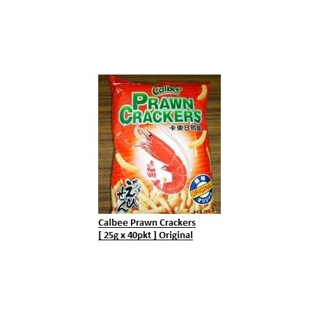 Calbee Prawn Cracker [Original] 25g x 40pkts