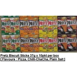 Pretz [Pizza / Chilli Chacha / Plain Salt] 37g x 10packs