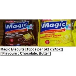 Magic Cracker Sandwich Biscuits [Butter / Chocolate] 15g x 10pcs x 24pkts
