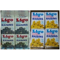Ligo Seedless Raisins [Original Black / Golden Seedless] 30g x 12pkts