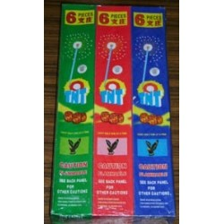 King Cat Sparklers  [Blue / Green / Red Mixed ] 5pcs x 6boxes