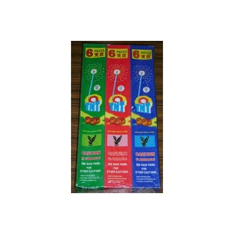 TNT Sparklers 12inches [Color : Blue, Green, Red] 6pcs x 6boxes