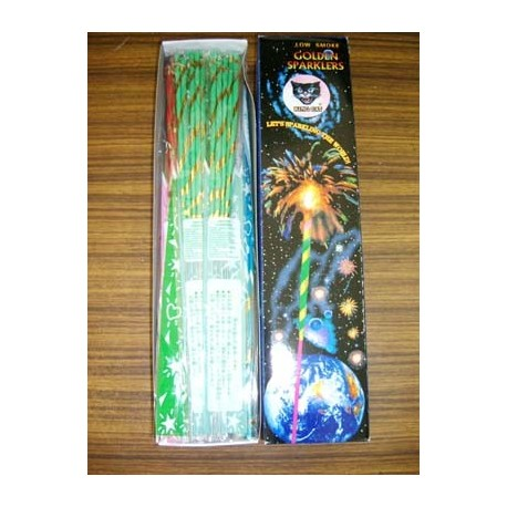 King Cat Golden Sparklers [Low Smoke] 12inches 5pcs x 20bags