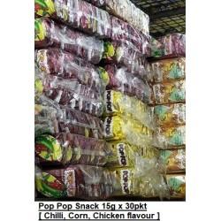 Pop Pop Snack [Chicken / Corn / Chilli ] 15g x 30pkt