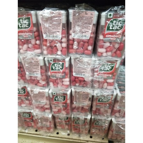 Tic Tac Strawberry 15.5g x 12pkt