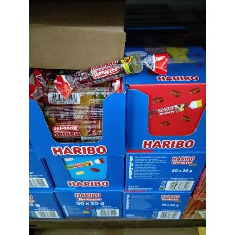 Haribo Roulette Gummy 35g x 50rolls [Fruit / Cola]