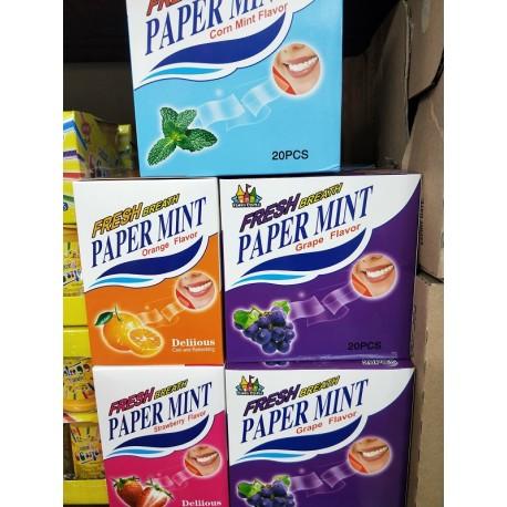 PaperMint 20pkt [Grape / Strawberry / Orange / Corn Mint]