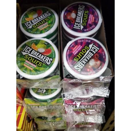 Icebreaker Sours Sugar Free [Watermelon, Apple, Tangerine (1st Type) / Mixed Berries, Cherry, Strawberry (2nd Type)] 42g x 8tin