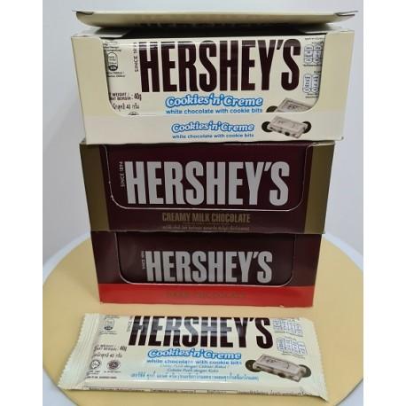 Hershey's [Dark Choc / White Choc / Creamy Milk Choc] 40g x 24bars [ Halal ]