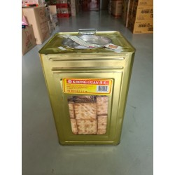 Plain Biscuit Cracker 3kg with Metal Container