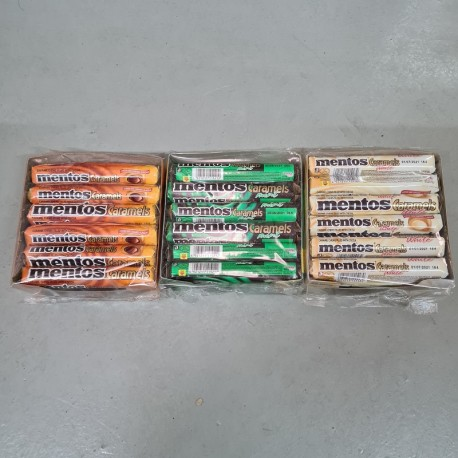 Mentos Caramels 37g x 18rolls [Chocolate / Chocolate Mint / White]