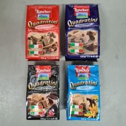 Loacker Quadratini 125g x 12pkts [Napolitaner / Chocolate / Dark Chocolate / Vanilla]