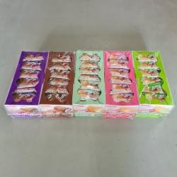 London Roll [Double Chocolate / Chocolate / Strawberry / Coconut / Vaniilla] 20g x 24pkts