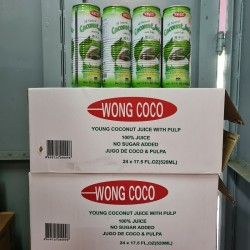 Wong Coco Young Coconut Juice with Pulp 520ml x 24cans