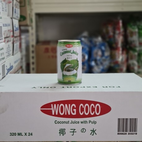Wong Coco Coconut Juice with Pulp 320ml x 24cans