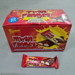 Benns Twin Finger Crispy Biscuit with Milk Chocolate 12g x 50pcs