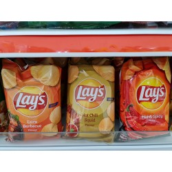 Lays Chips 50g x 6 packs [ BBQ / Squid / Hot Spicy ]
