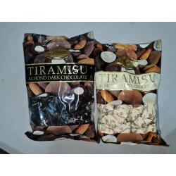 Alessio Chocolate Tiramisu Almond Chocolate ( Vegetarian ) [ Dark / White ] 250g x 6packs