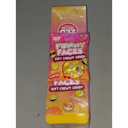 Zed Funny Faces Soft Chewy Candy 90g x 16pkt