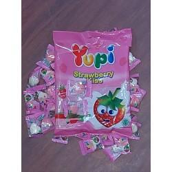[ 110g x 24 packs ] Yupi Strawberry Kisses [ Est. 48 small Pcs per pack ]