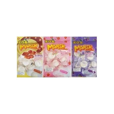 [ 100g x 10packs ] EGO Marshmallows [Chocolate / Grape / Strawberry] ( Est. 18 small Pcs per pack ) Halal