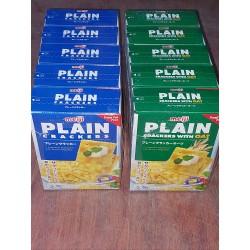 [ 104g x 6 boxes ] Meiji Plain Biscuits Original / Oat [ 26g x 4 sachets per box ]